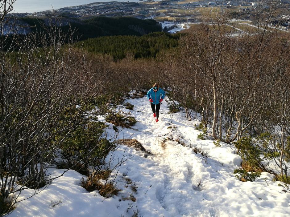 Ypperlige forhold i Bodømarka for de uten ski