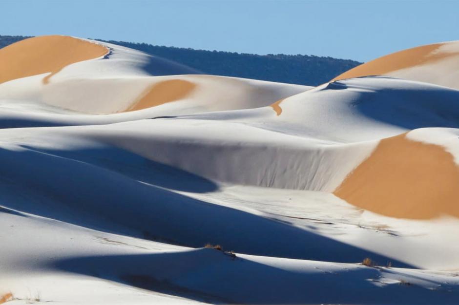 Snøfall i Sahara for 4. gang de siste 42 årene